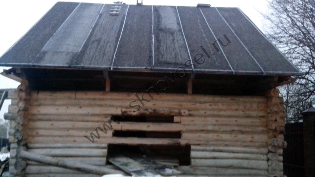 Старый деревянный до до реконструкции